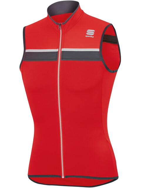 Sportful Pista Sleeveless Jersey Men Red/Anthracite/White